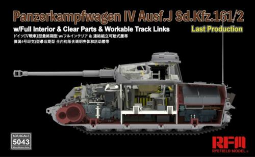 Panzer IV Ausf.J last production RYEFIELDMODEL full interior NEUE FORMEN
