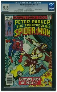 Spectacular-Spider-Man-30-CGC-9-8-WP-HTF-and-Carrion-amp-White-Tiger-App