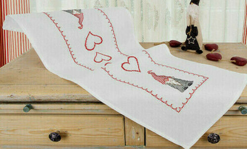 Stick envase alfil 40x100 cm Santa Claus secreto navidad 56 punto de cruz bordar