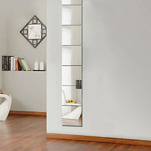 9-PCS-S-miroir-carreaux-autocollants-muraux-mosaique-Salle-de-maquillage-DECOR-3d-Colle