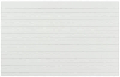 "Pack 100 Revision Flash Cards Record White Ruled Feint Index 8x5"" Lined KF35206"