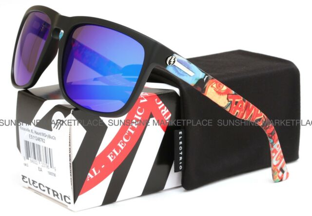 NEW Electric Knoxville XL Sunglasses-James Haunt-Blue Chrome-SAME DAY SHIPPING!