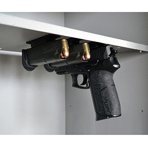 Gun Magnet Gun Holster Holder Tac-Mag under Bed Desk Table Car Motor Wall F192