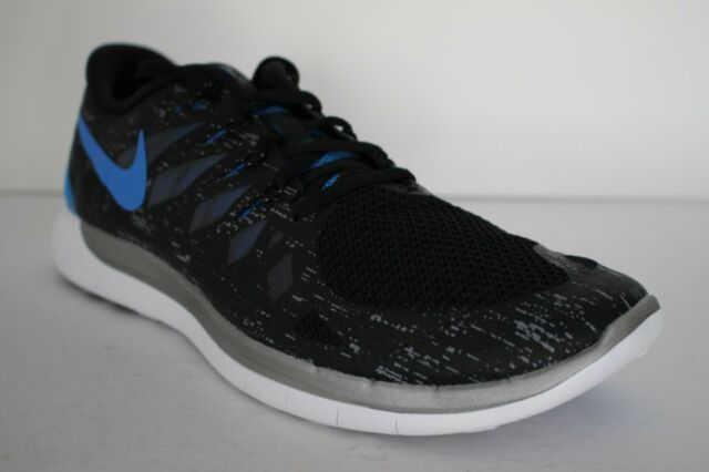 Nike Free 5.0 Reflective 3M Mens BlackBlue Running Cross Training 705284 041