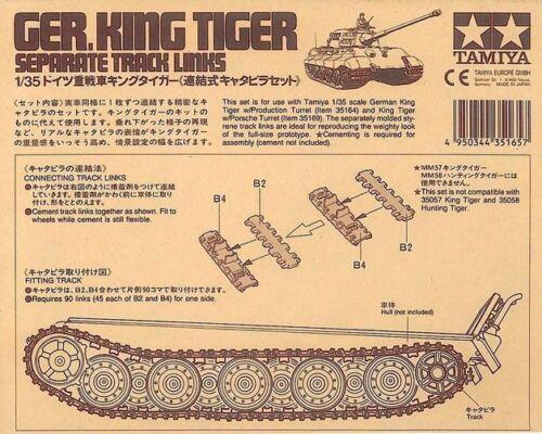 Tamiya 1//35 scale WW2 German King Tiger tank Track Links