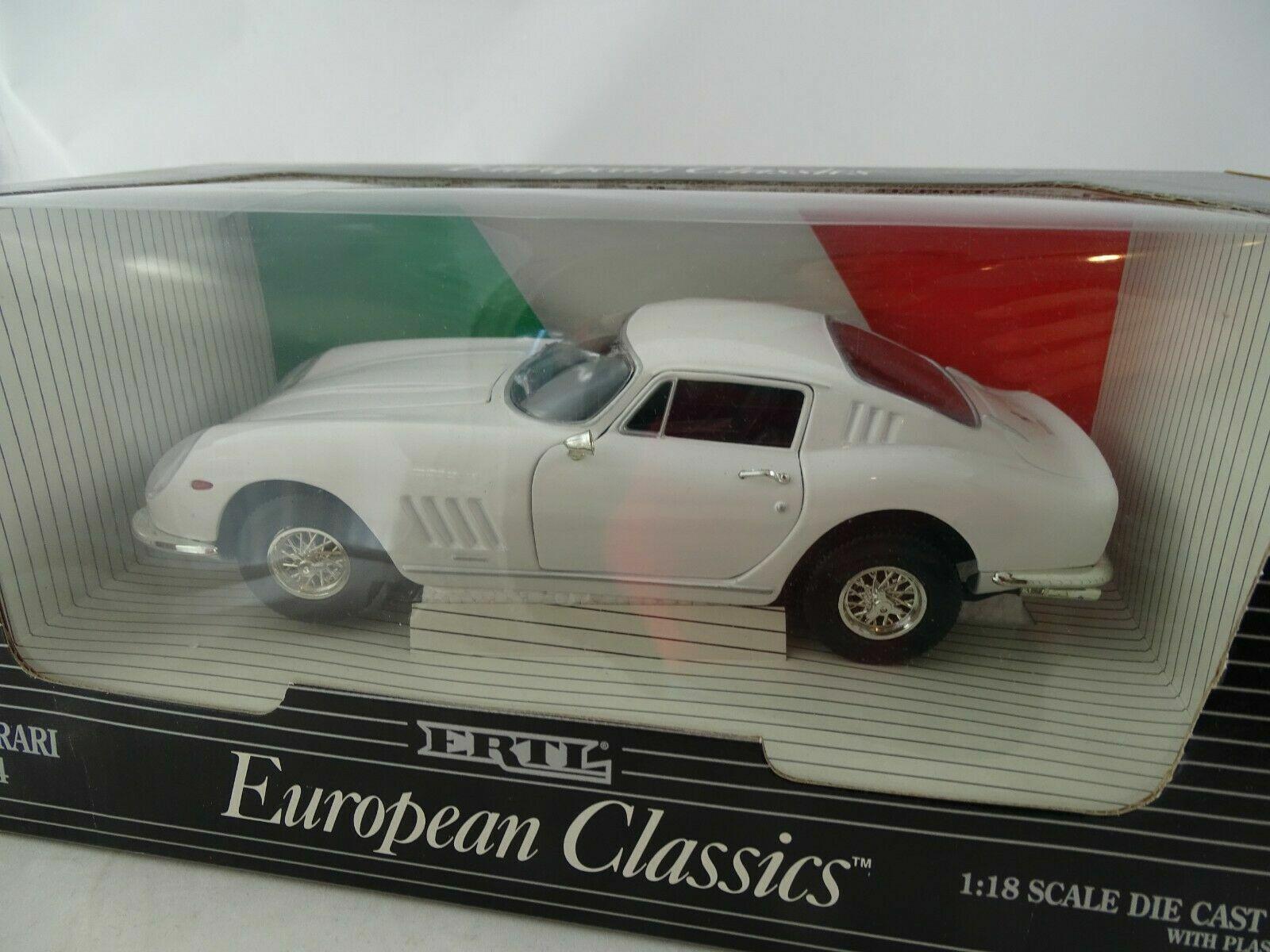 1 18 ertl European Classics 1966 ferrari 275 GTB 4 blancoo  07493 como nuevo