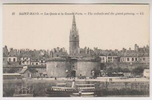 France-Tarjeta-Postal-SANTOS-MALO-LAS-QUAIS-Y-LA-GRANDE-porte-LL-N-27
