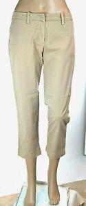 Pantaloni Donna 7/8 MET Made in Italy C897 Beige Gamba Dritta 7/8 Tg 26 27 29