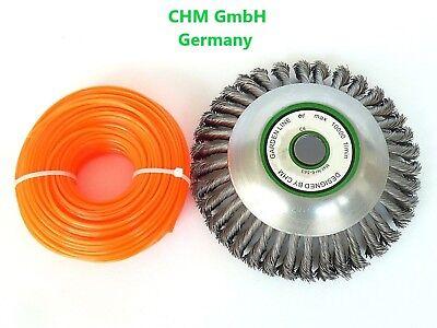 2,4//3//4mm Mähfaden Trimmerfaden Nylonfaden für Motorsense Fadenspule Ersatzfaden