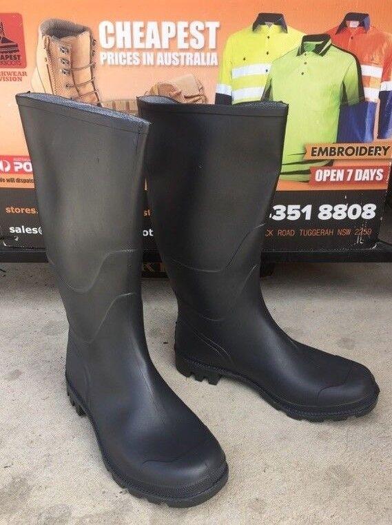 2 WATERPROOF pairs Mens Rubber Boots Gumboots WATERPROOF 2 wellingtons fishing / wet-working 457377