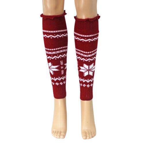 Women Girl Winter Warm Knit  High Knee Leg Warmer Knitwear Leggings Boot Socks