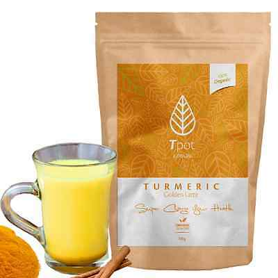 Turmeric Latte Golden ORGANIC Drink Tea Powder Curcumin 100g