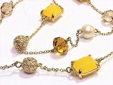 Kate Spade Bijoux Bijoux Necklace NWT Beautiful Double Sided Lemony Gems & Pave