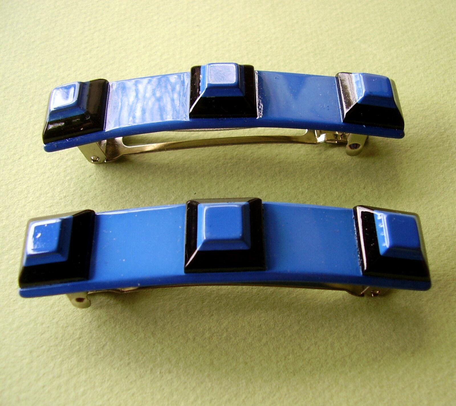 1509 / Par Pasadores Plástico Negro y Azul