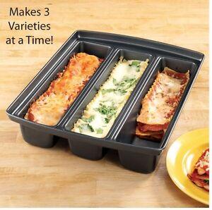 Three Section Baking Pan Lasagna Lover Pan 3 Different