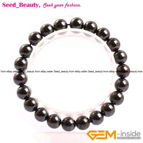 """Lady Assortis Naturel Noir Hématite Thérapie Magnétique Healing Stone Bracelet 7/"""""""