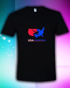 USA-Wrestling-Olympics-Team-USA-Membership-BLACK-T-Shirt-S-M-L-XL-2XL-3XL