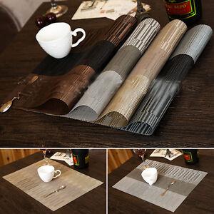 4-x-PVC-Kueche-Tischset-Platzdeckchen-Platzset-abwaschbar-Kunststoff-45x30-cm