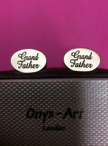 ** Réduit ** Grand-père Boutons De Manchette Par Onyx Art Ck536-afficher Le Titre D'origine PréVenir Et GuéRir Les Maladies