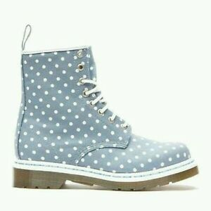 Martens Womens Us Dr About Polka Boots 9 Blue 11 Lace Details Eye Canvas Castel Dot Uk White 8 iPZkXuO