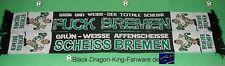 "Anti Bremen Schal ""Grün-Weisse Affen.."" Ultra Fan Block Scarf 100% Acryl + neu +"