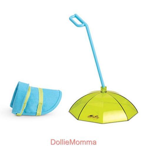 New AMERICAN GIRL PET RAIN GEAR Accessory Dog Walking Umbrella Coat Cyber SALE