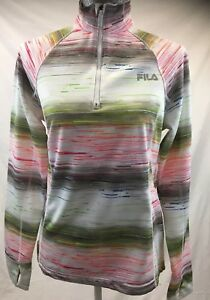 f3e049ba Details about FILA SPORT Women's Sz M Fleece Lined 1/4 Zip Workout Yoga  Long Sleeve Sweatshirt