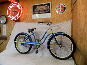 1950s JC HIGGINS LADIES 24 VINTAGE BICYCLE ELGIN MURRAY SEARS BLUE 50S CWC 50 #1