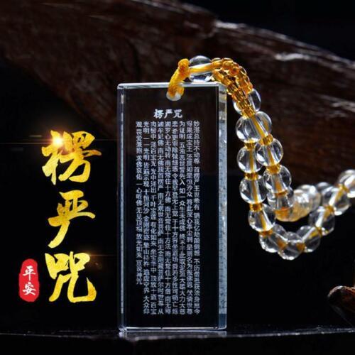 Glcrystal Necklace Great Compassion Mantra Pendant Tibetan Buddhist Safe Amulet