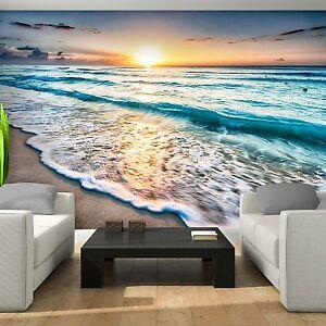 vlies fototapeten fototapete tapete natur wasser strand meer sonne 3fx11040v ebay. Black Bedroom Furniture Sets. Home Design Ideas