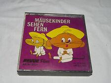 REVUE FILM SUPER 8 - MÄUSEKINDER SEHEN FERN - ca.17m SW