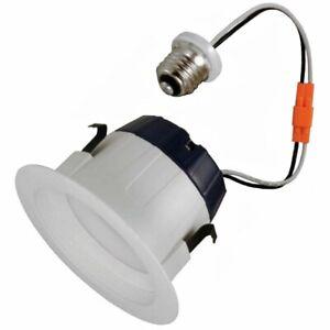 Sylvania 74285 Ultra Rt4 4 Dimmable Led Recessed Lighting Retrofit White Baffle 46135742859 Ebay