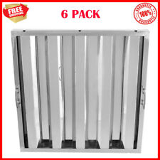 6 Pack Durable Stainless Steel Hood Grease Commercial Exhaust Filter Baffle