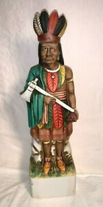 Vintage-1974-SKI-COUNTRY-Whiskey-Decanter-CIGAR-STORE-INDIAN-13-5-034-Limited-Ed