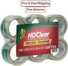 New Duck Hd Clear Heavy Duty Packaging Tape 188 X 546 Yds With 6 Rolls
