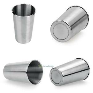 500ML-Stainless-Steel-Cups-16oz-Tumbler-Pint-Glasses-18-8-Metal-Cold-Cup-BPA-SW