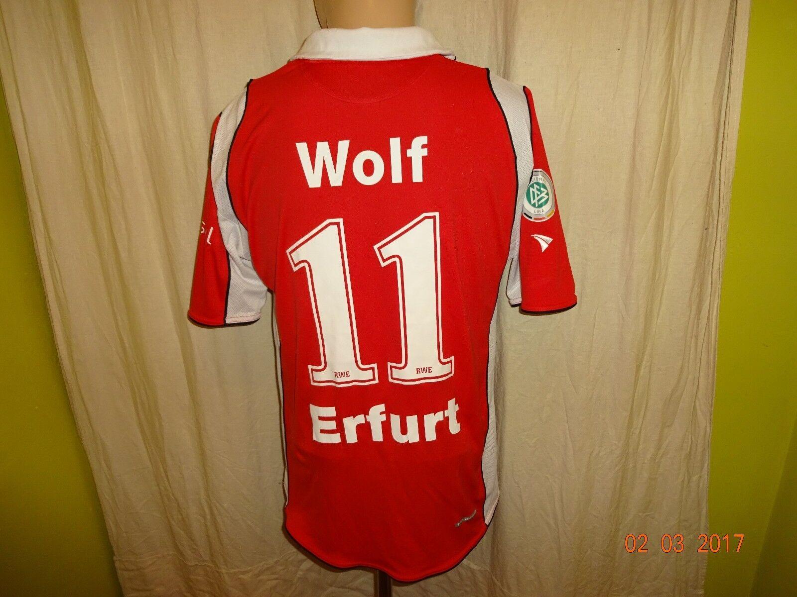 FC Rot Weiss Erfurt Jako Matchworn Trikot 2008 09  e-on  + Nr.11 Wolf Gr.M L  | Erste Kunden Eine Vollständige Palette Von Spezifikationen