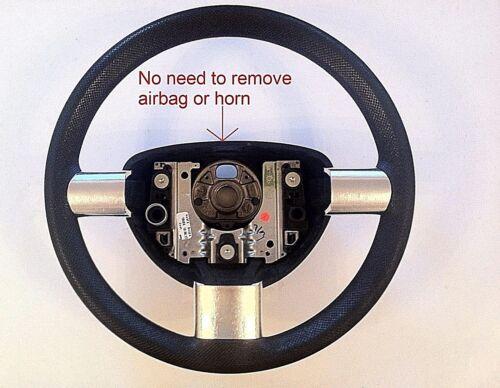 VOLKSWAGEN NEW BEETLE Steering Enjoliveurs-Chrome Brossé Effet 1998-2011