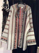 Oversized H&M Wool Mix Hippie Boho Cardigan Jacket Festival Folk M L 14 16