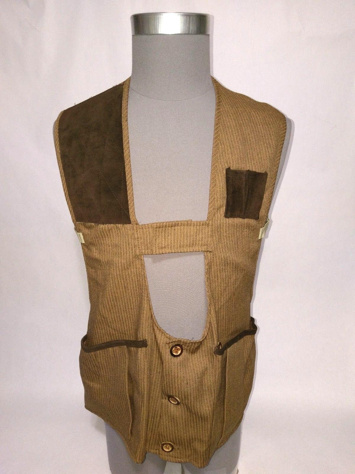 Vintage Redhead MASTERS Hunting Shooting Vest Suede Leather Brown Medium  Vented  exclusive