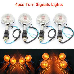 4X 12V 21W Motorcycle Turn Signal Amber Winker Blinker Indicator Lamp For Yamaha