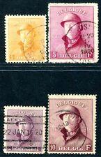 BELGIEN 1919 155-158 gestempelt STAHLHELM HÖCHSTWERTE 750€(S1505