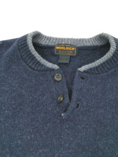 85 4 Sweater Wool 15 Mix nylon Large Button Navy 1 Mens Size Woolrich UWnRCIv