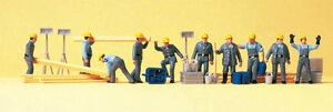 H0 Preiser 10220 ayudantes Thw. Arbeitsanzug. figuras. Emb.orig