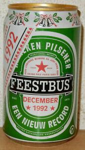 HEINEKEN FEESTBUS 1992 Beer can from HOLLAND (33cl) Empty !!