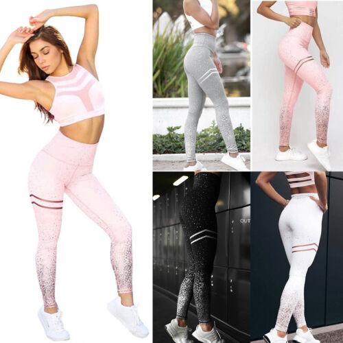 Frauen Sports Leggings Hohe Taille Yoga Fitness Jogginghose Laufhose Trainieren