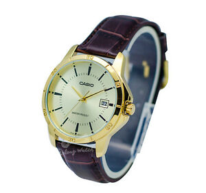 Casio-MTPV004GL-9A-Men-039-s-Strap-Fashion-Watch-Brand-New-amp-100-Authentic