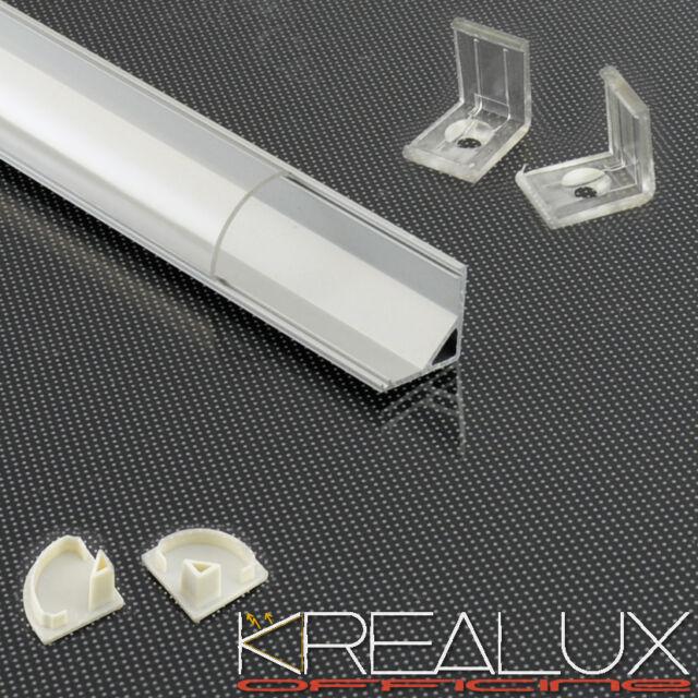 J011 barra profilo alluminio ANGOLARE per striscia barra LED 5630 5050 3528