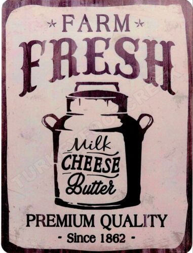 "FARM FRESH MILK BUTTER CHEESE  9/"" x 12/"" Sign"