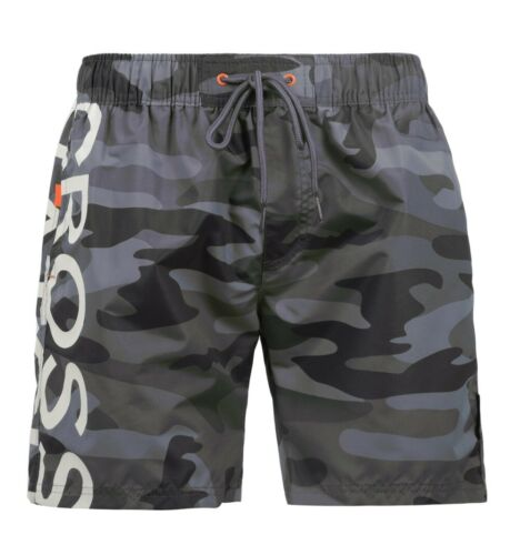 Mens Crosshatch Designer Swim Shorts CAMO Mesh Lined Casual Beach Swimming Trunk